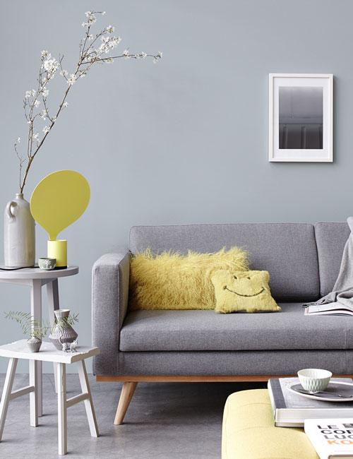 Peter Fehrentz interiordesign photography Innenarchitektur Fotografie Design Möbeldesign Furnituredesign Schöner Wohnen grey and yellow sofa livingroom