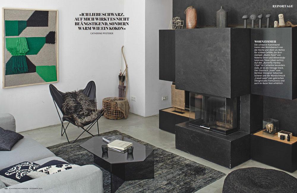 Peter Fehrentz interiordesign photography Innenarchitektur Fotografie Design Möbeldesign Furnituredesign Berlin apartment Bazar noir homestory black
