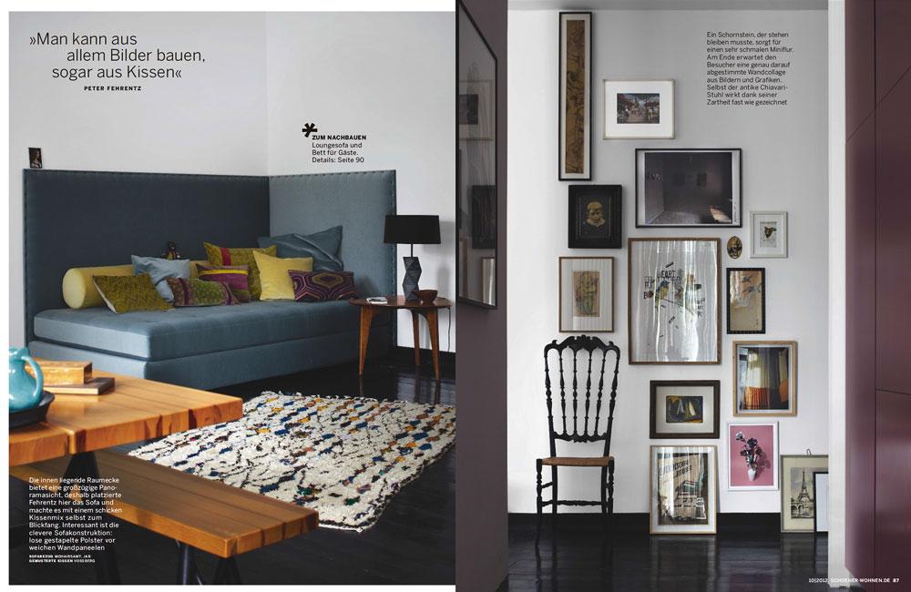 Peter Fehrentz interiordesign photography Innenarchitektur Fotografie Design Möbeldesign Furnituredesign Berlin apartment daybed velvet frames petersburg hanging midcentury