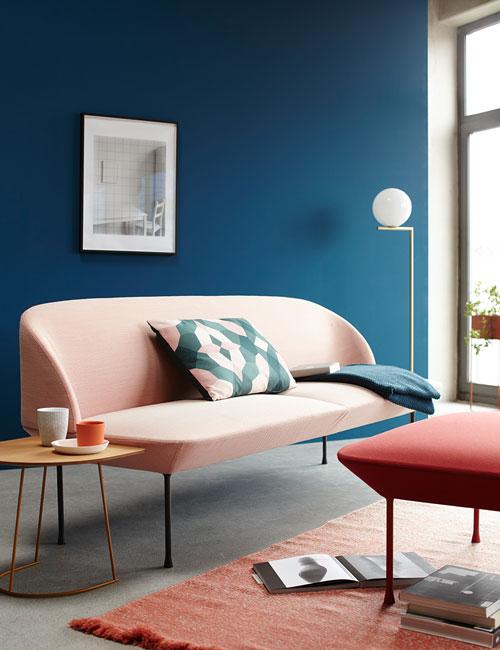 Peter Fehrentz interiordesign photography Innenarchitektur Fotografie Design Möbeldesign Furnituredesign Schöner Wohnen minimal flos muuto kinnasand carpet pink blue wall