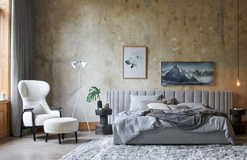 Peter Fehrentz interiordesign photography Innenarchitektur Fotografie Design Möbeldesign Furnituredesign Schöner Wohnen winter stoffe bett cosy vintage palazzo bedroom